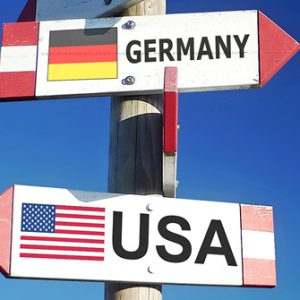 Richtungspfeile USA Germany