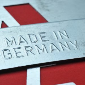 Aufschrift Made in Germany