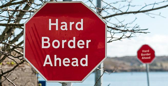 An der Grenze zwischen der Republik Irland und Nordirland drohen Kontrollen