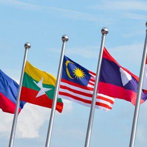 Flaggen der ASEAN-Staaten