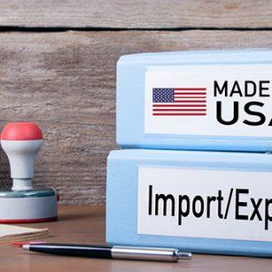 Ordner für Import und Export, made in USA