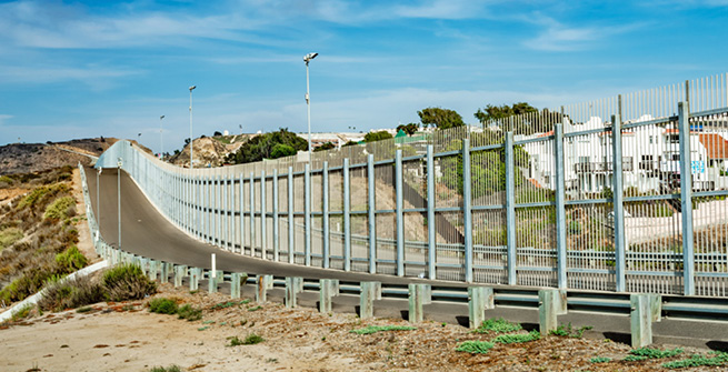 Grenzzaun in den USA