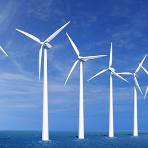 Windkraftanlagen vor der Küste