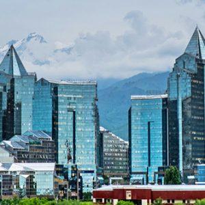 Hochhäuser in Almaty