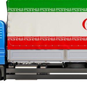 Lkw bringt Waren in den Iran