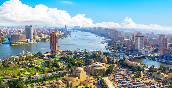 Kairo aus der Luft