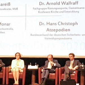 Panel auf dem Exportkontrolltag