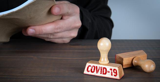 Stempel mit COVID-19