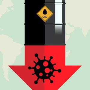 Ölfass und Coronavirus