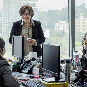 Manager im Büro Sao Paulo