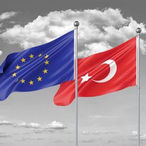 Flaggen Türkei EU