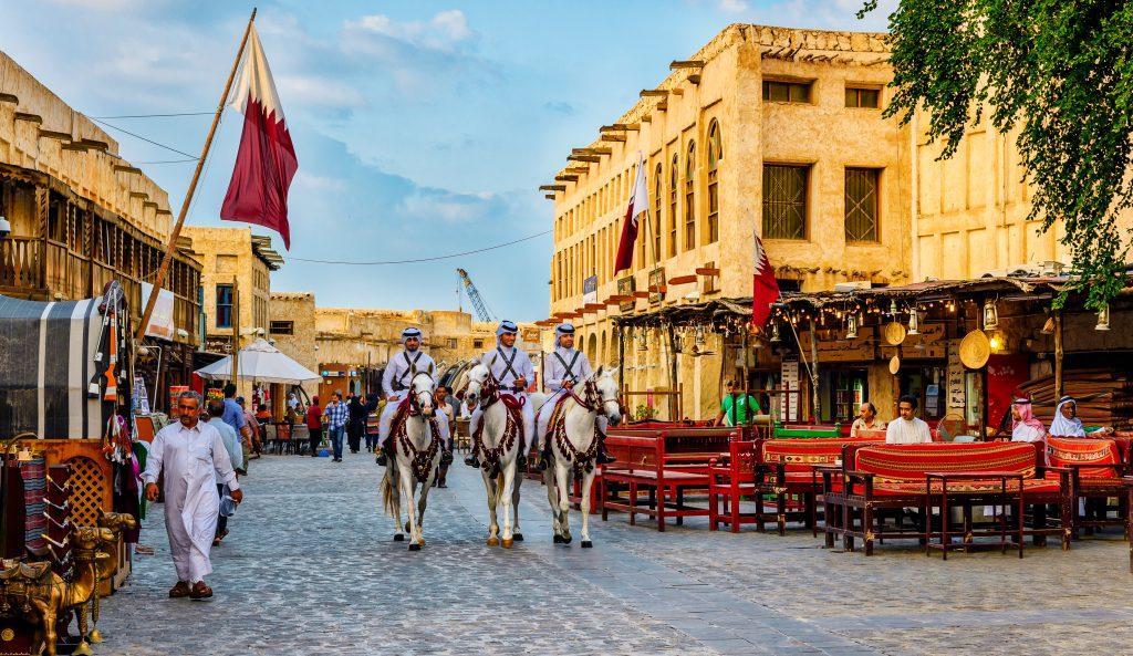 Traditioneller Markt in Qatar