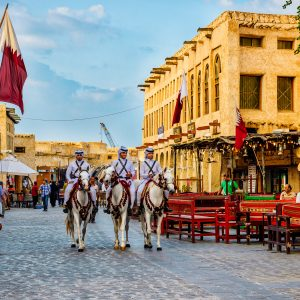 Traditioneller Markt in Qatar