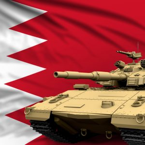 Panzer vor Flagge Bahrain