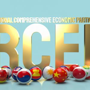 RCEP in goldenen Lettern