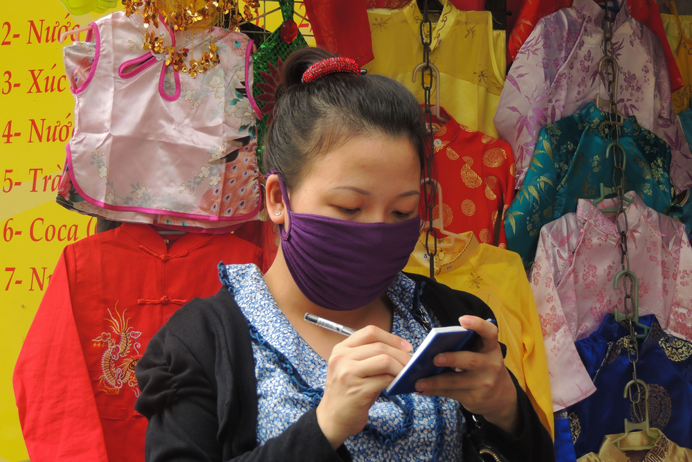 Marktfrau Vietnam