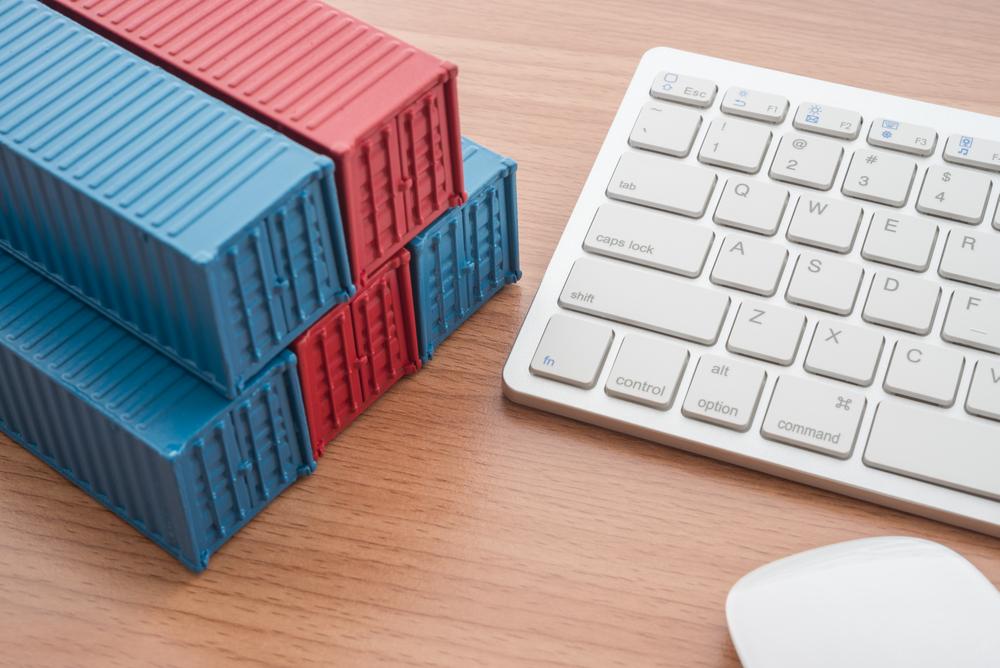Container und Tastatur