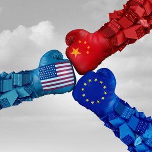 Fäuste USA, China, EU