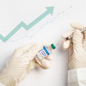Wachstum und Impfbesteck