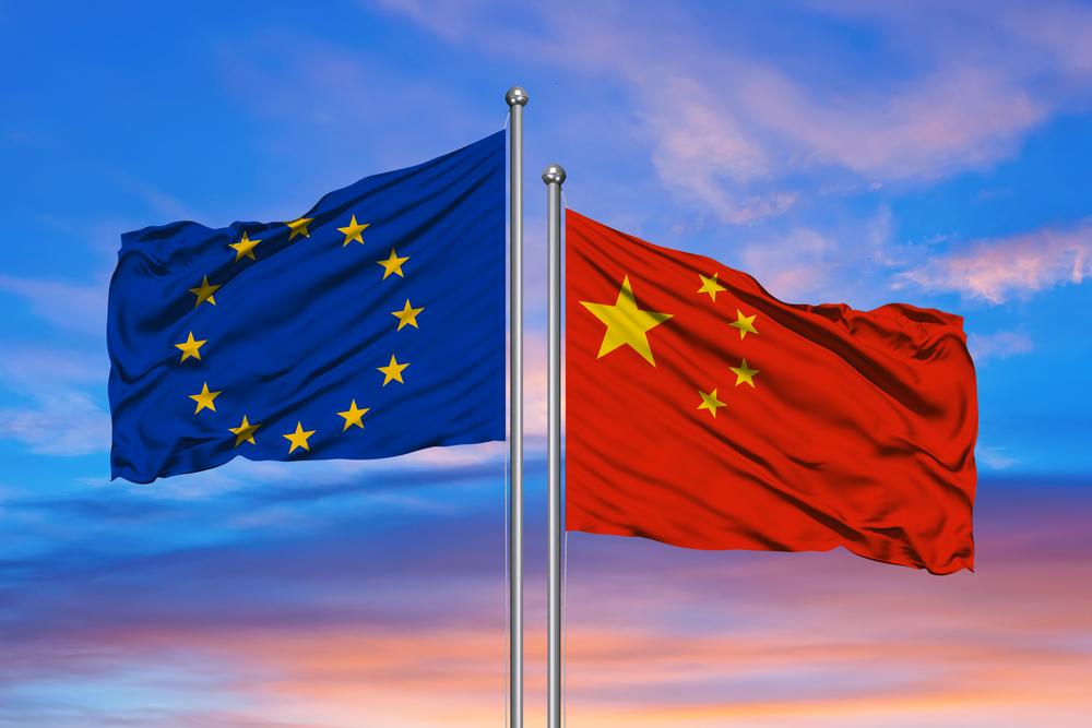 Flaggen EU China
