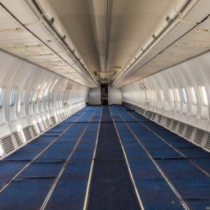 Leerer Innenraum Flugzeug
