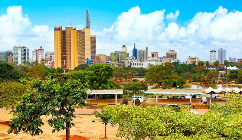 Skyline Afrika Grünanlage