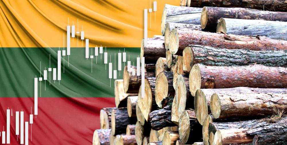 Holzstapel von Flagge